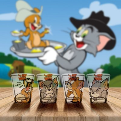 Jogo de copos Shot Tom e Jerry