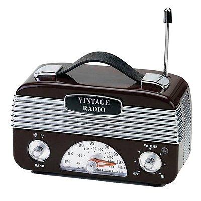 Rádio AM/FM Vintage Retrô - marrom