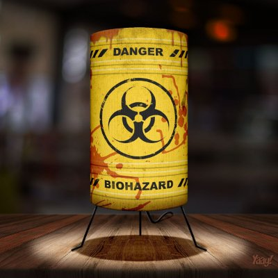 Luminária Yaay Barril Biohazard - Risco biológico