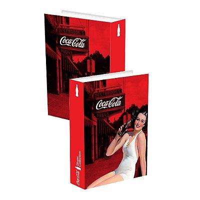 Caixa Livro madeira Coca Cola - Pin Up Brunette Lady