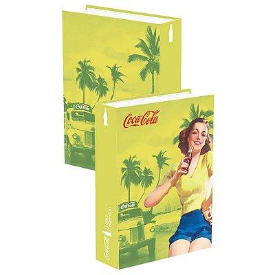 Caixa Livro madeira Coca Cola - Pin Up Brown Lady