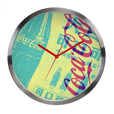 Relógio de parede Coca Cola newspaper em metal