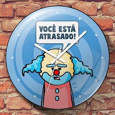 Relógio de Parede DrPepper Paiaço Você Está Atrasado - 30 cm