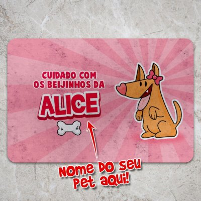 Capacho Eco Slim 3mm Beijinhos da sua Cachorrinha - Personalizado
