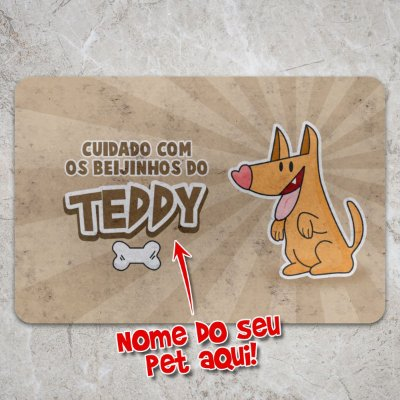 Capacho Eco Slim 3mm Beijinhos do seu Cachorrinho - Personalizado
