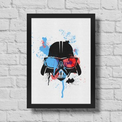 Quadro A3 Geek Side - Splash Vader - 30 x 42 cm