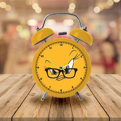 Relógio Despertador de Mesa Looney Tunes Piu-Piu