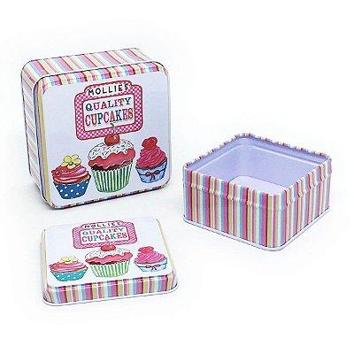 Jogo de latas Quality Cupcakes - 2 unidades