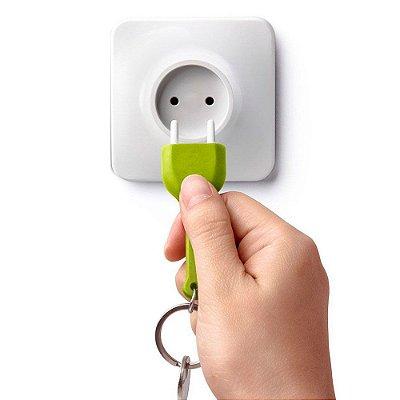 Porta Chave com Chaveiro Tomada - verde