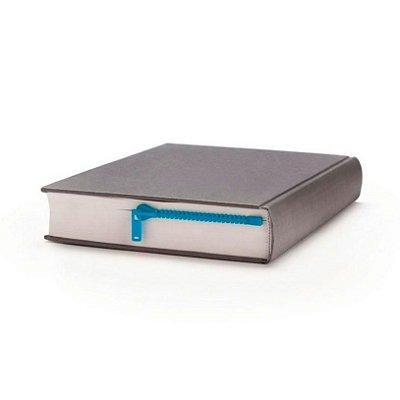 Marcador de Livro Zíper - azul