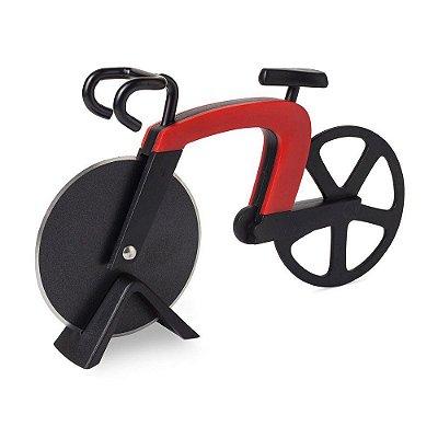 Fatiador de Pizza Bicicleta - vermelho