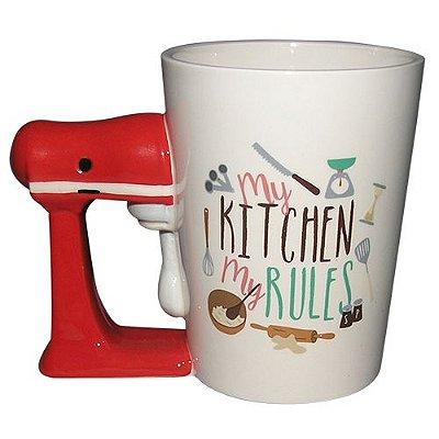 Caneca Fun Kitchen em porcelana 360ml