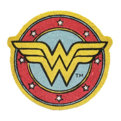 Capacho em fibra de coco DC Comics Wonder Woman Logo