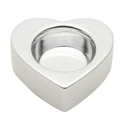 Castiçal Shiny Heart Coração - prata