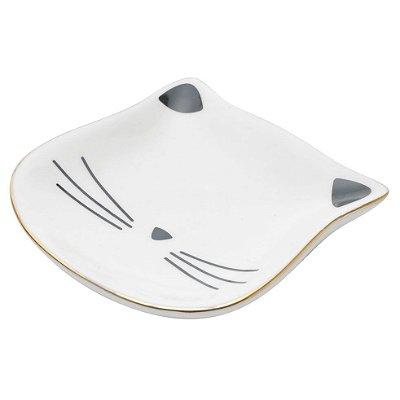 Porta Anéis Cat Face Gatinho - branco