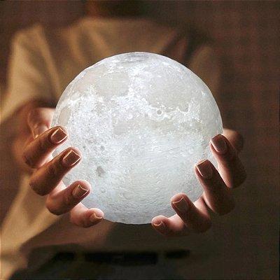 Luminária Lua Cheia com controle remoto e Led 16 cores