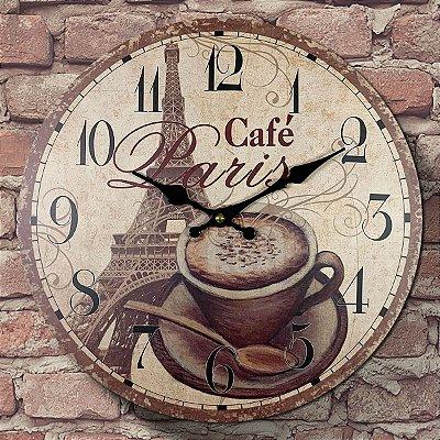 Relógio de Parede Café Paris
