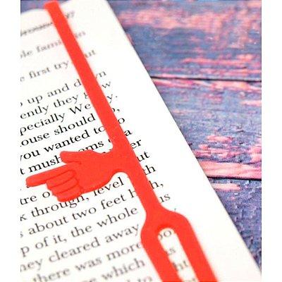 Marcador de Páginas com indicador de parágrafo - vermelho