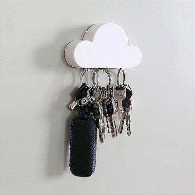 Porta Chaves magnético Nuvem Multiuso