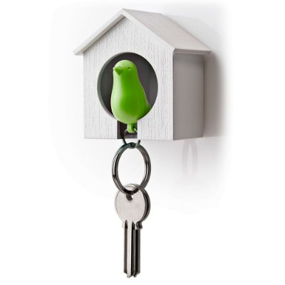 Porta Chaves e Chaveiro Passarinho Sparrow Key Ring - verde