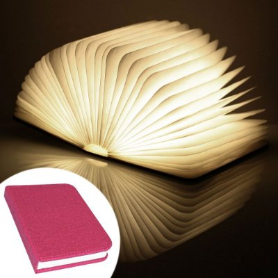 Luminária Livro sem fio BookLight Seven Colors - capa vermelha