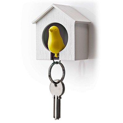 Porta Chaves e Chaveiro Passarinho Sparrow Key Ring - amarelo