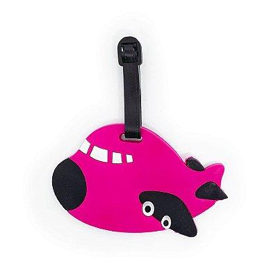 Tag de Mala para viagem Avião - rosa