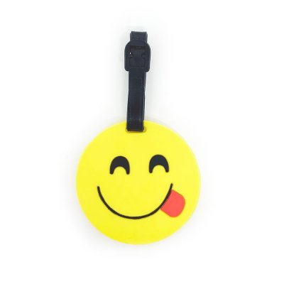Tag de Mala para viagem Emoticon - Emoji Linguinha