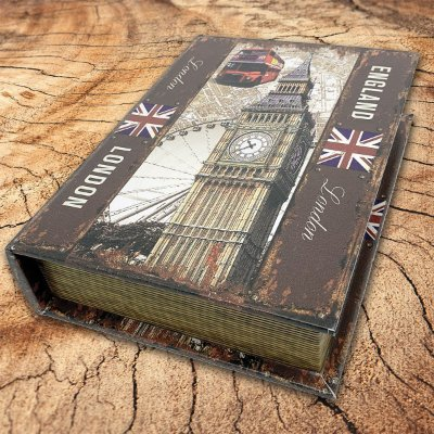 Caixa Livro Decorativa England London - 25 x 18 cm
