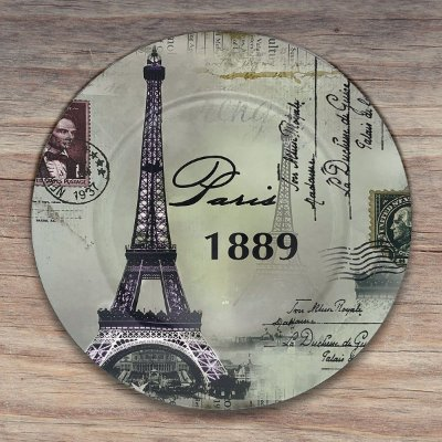 Sousplat Paris Torre Eiffel 1889