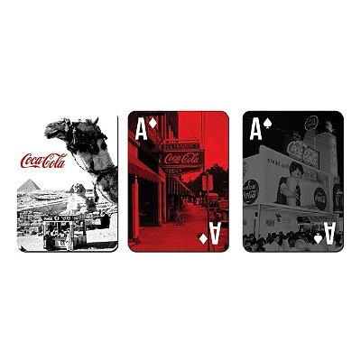Jogo de Baralho Plástico Coca-Cola Landscape Egyp