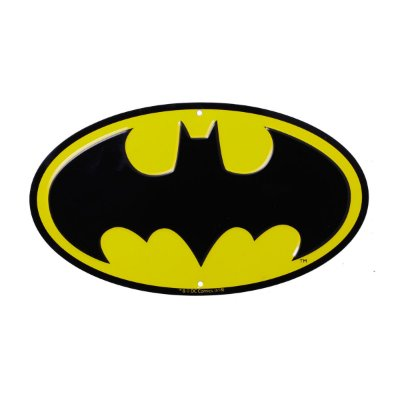 Placa de Metal Decorativa DC Comics Batman Logo
