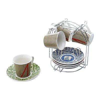 Jogo de Xícaras de café Turma do Chaves - 9 peças