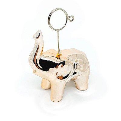 Enfeite de porcelana Elefante com Porta Recados