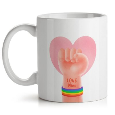 Caneca Pride Day Love Wins