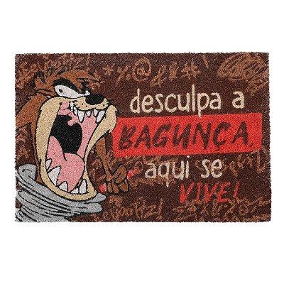 Capacho em fibra de coco Tazmania Desculpe a Bagunça