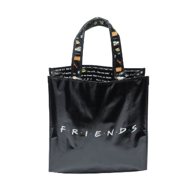 Sacola Ecobag Friends com frases no interior