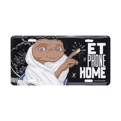 Placa de Carro em alumínio ET o Extraterrestre Light Finger Phone Home