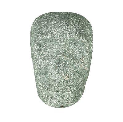 Caveira Glitter Skull - cor prata