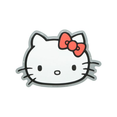Placa de Metal Decorativa Hello Kitty