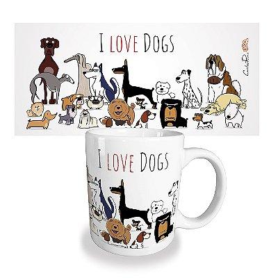 Caneca USQ I Love Dogs
