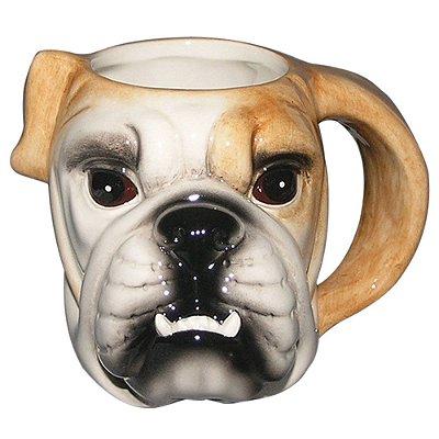 Caneca Cabeça de Bulldog em porcelana Dynasty Collection