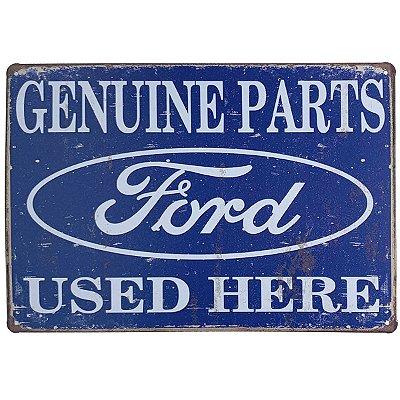 Placa de Metal Ford Genuine Parts - 30 x 20 cm