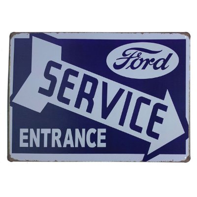 Placa de Metal Ford Service - 30 x 20 cm
