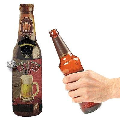 Abridor de Garrafa de parede Cold Larger Beer Here