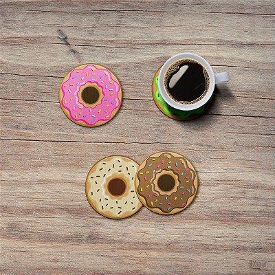 Jogo de Porta Copos Donuts - 4 peças