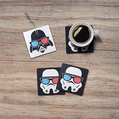 Jogo de Porta Copos Geek Side - 4 peças