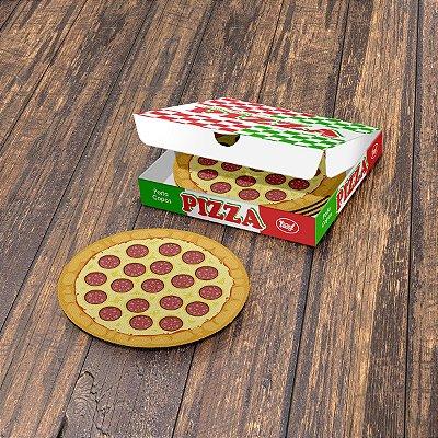Jogo de Porta Copos Pizza Peperoni - 4 peças