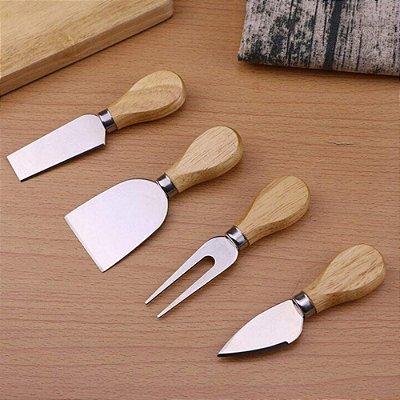Conjunto Facas De Queijo e Frios Aço Inox - kit com 4 peças