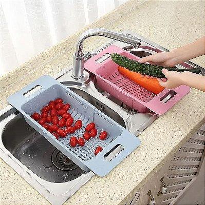 Escorredor Ajustável para pia - Frutas Legumes Verduras